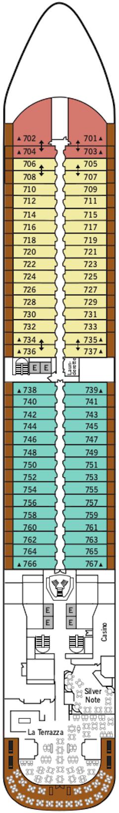 Silver Dawn Deck 7 Deck Plan