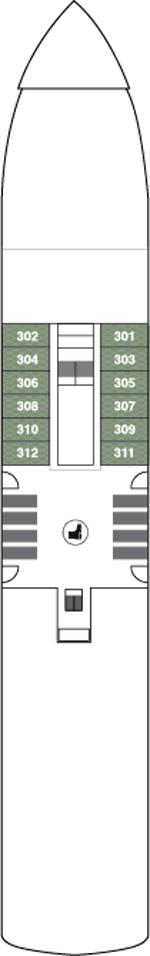 World Navigator Deck 3 Deck Plan