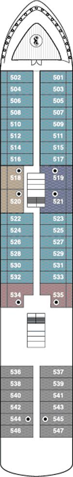 World Navigator Deck 5 Deck Plan