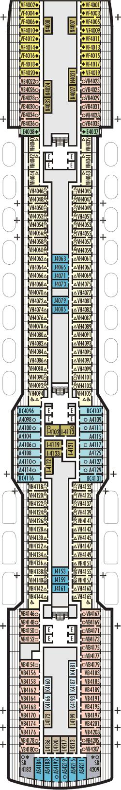 Rotterdam Beethoven Deck Deck Plan