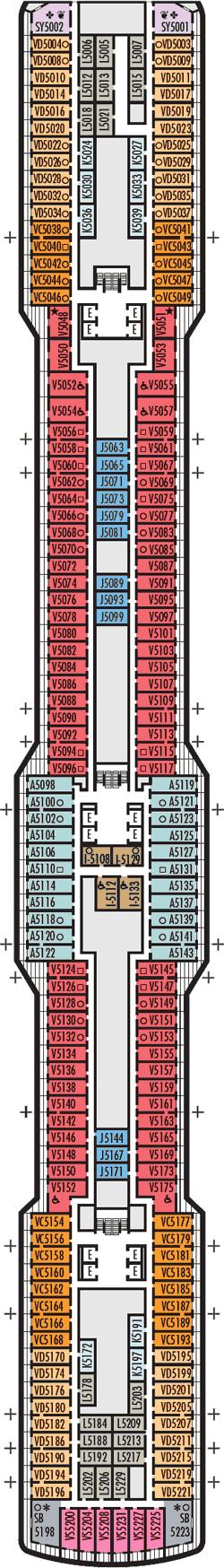 Rotterdam Gershwin Deck Deck Plan