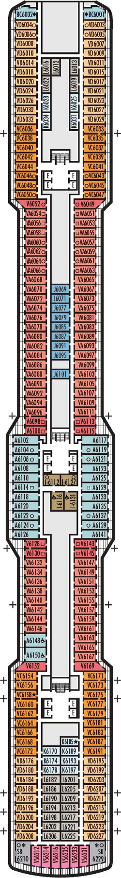 Rotterdam Mozart Deck Deck Plan