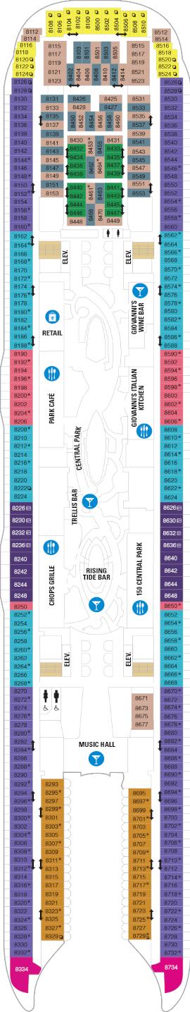 Wonder Of The Seas Deck 8 Deck Plan