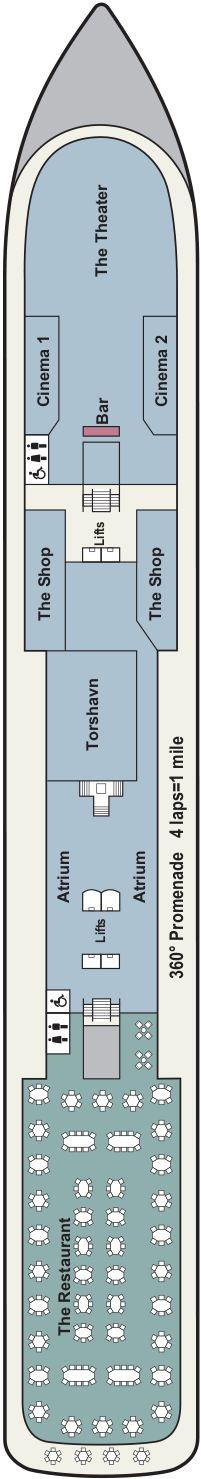 Viking Neptune Deck 2 Deck Plan