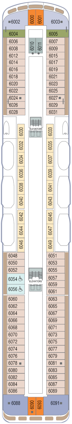 Azamara Onward Deck 6 Deck Plan