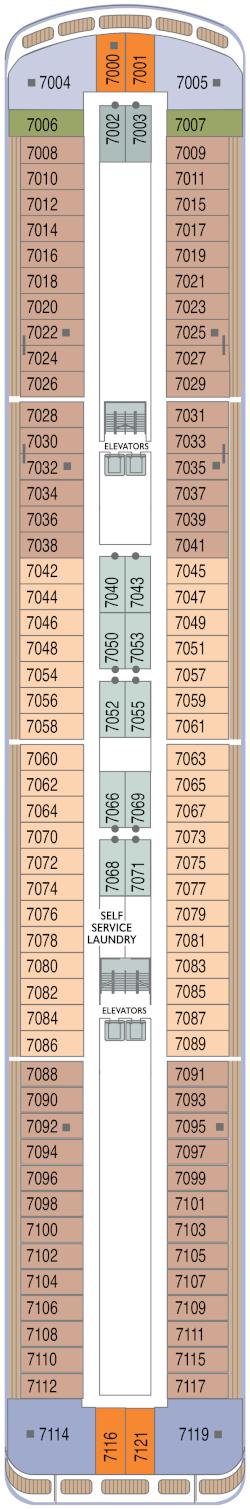 Azamara Onward Deck 7 Deck Plan