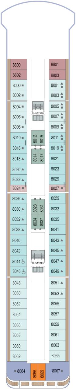 Azamara Onward Deck 8 Deck Plan
