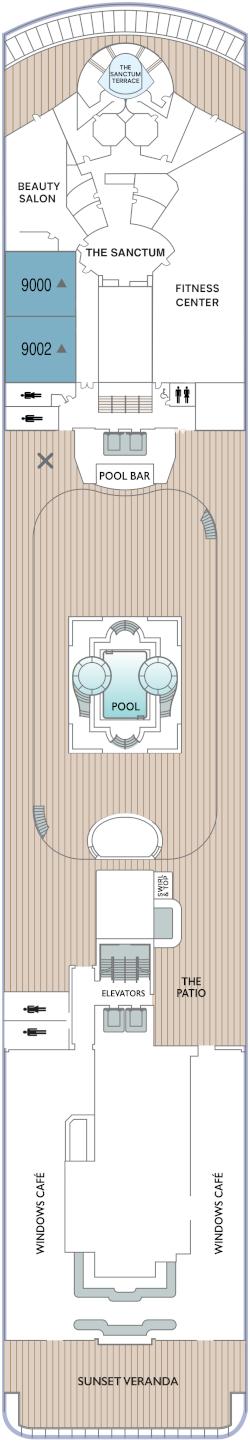 Azamara Onward Deck 9 Deck Plan