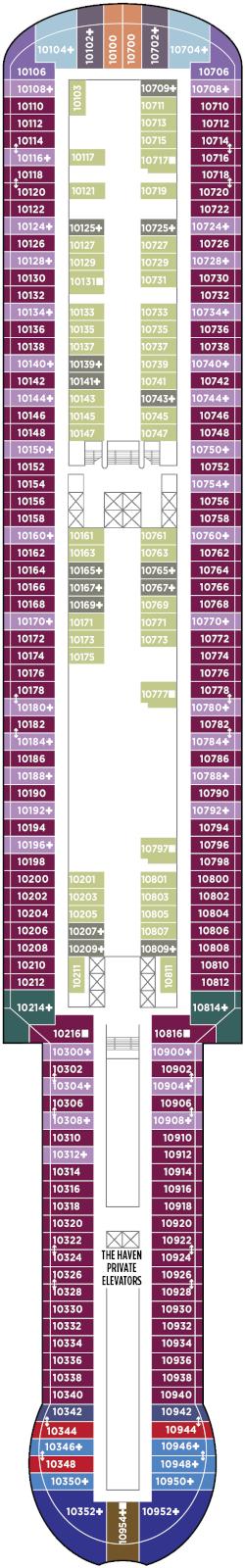Norwegian Prima Deck 10 Deck Plan
