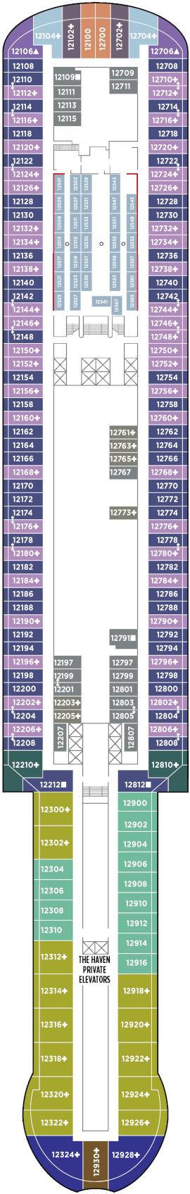 Norwegian Prima Deck 12 Deck Plan