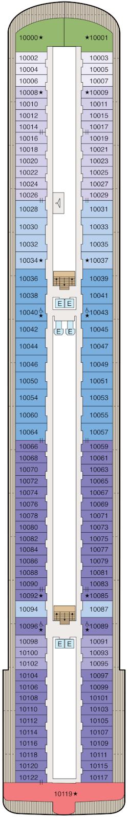 Vista Deck 10 Deck Plan