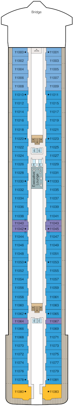Vista Deck 11 Deck Plan