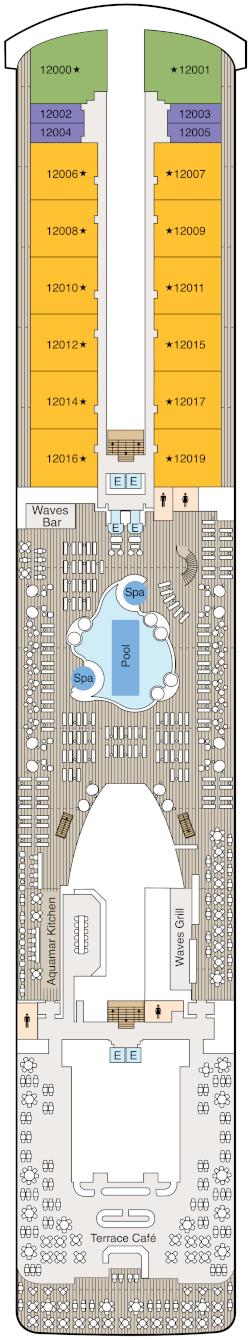 Vista Deck 12 Deck Plan