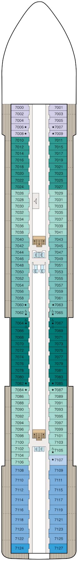 Vista Deck 7 Deck Plan