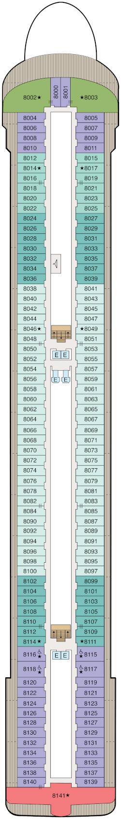 Vista Deck 8 Deck Plan