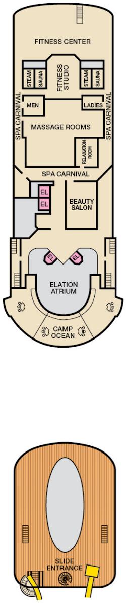 Carnival Elation Sports Deck Deck Plan