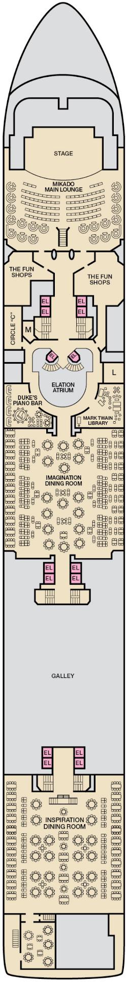 Carnival Elation Atlantic Deck Deck Plan