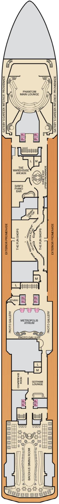 Carnival Miracle Atlantic Deck Deck Plan