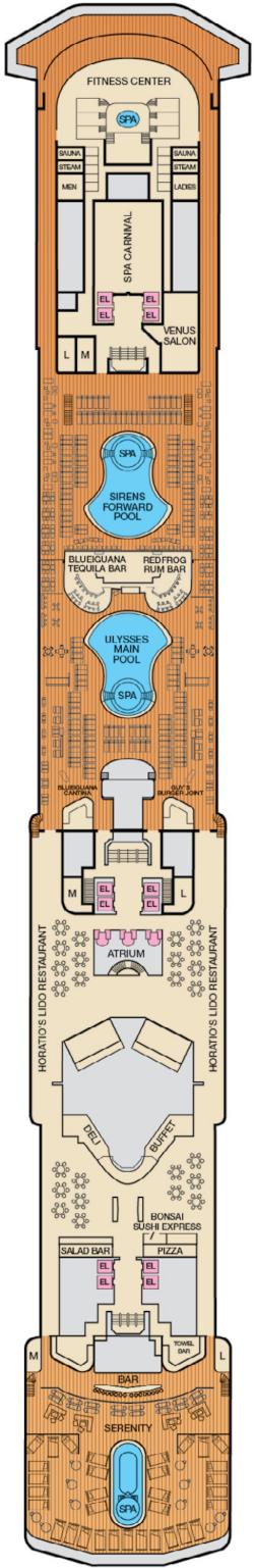 Carnival Miracle Lido Deck Deck Plan