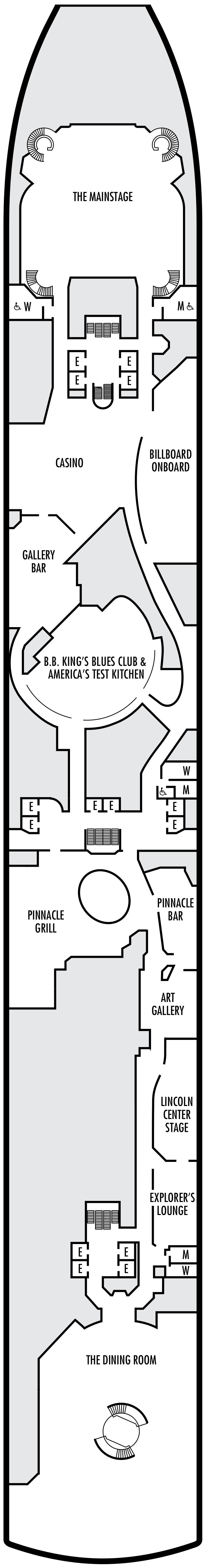 Westerdam Lower Promenade Deck Plan
