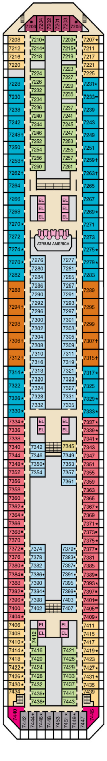 Carnival Valor Empress Deck Plan
