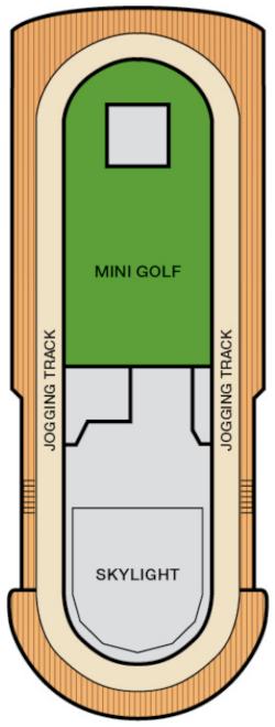 Carnival Sensation Sun Deck Deck Plan