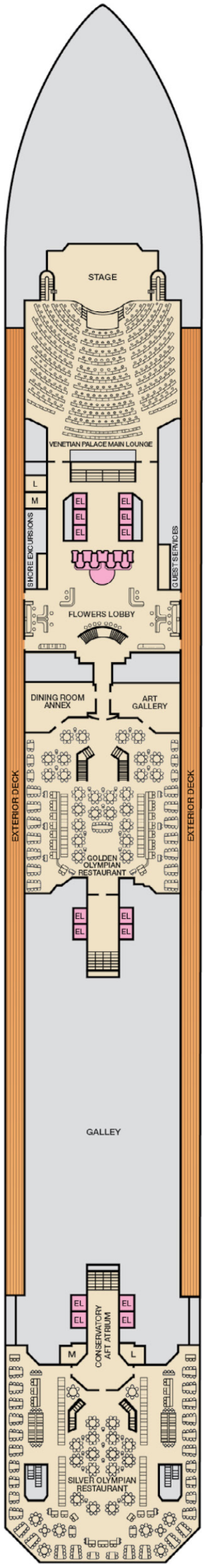 Carnival Liberty Lobby Deck Deck Plan