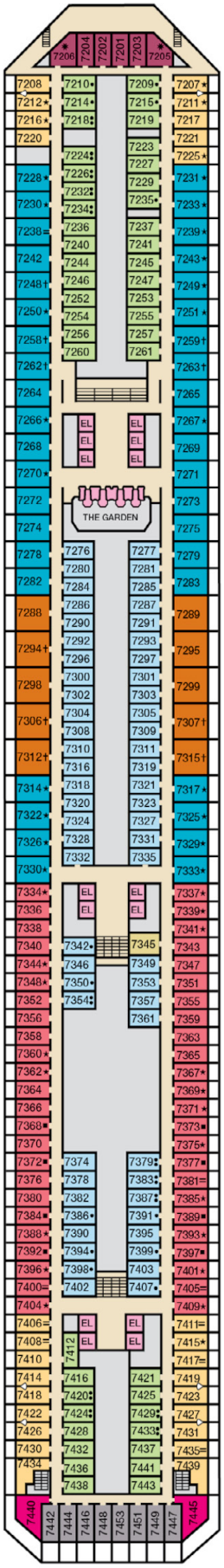 Carnival Liberty Empress Deck Deck Plan