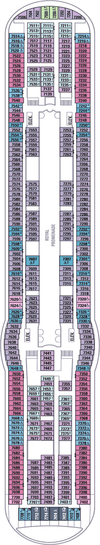 Freedom Of The Seas Deck Seven Deck Plan