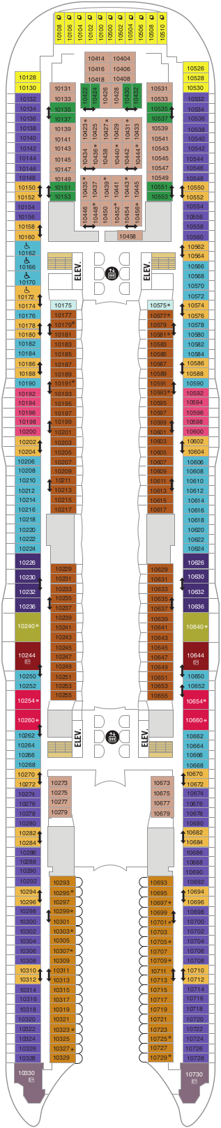Oasis Of The Seas Deck 10 Deck Plan