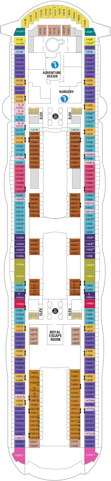 Oasis Of The Seas Deck 14 Deck Plan