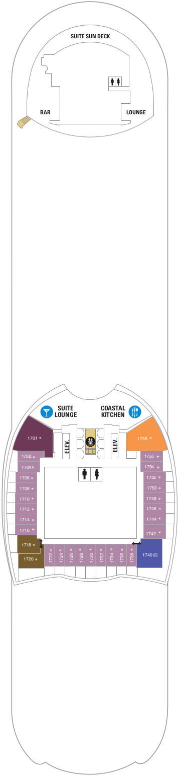 Oasis Of The Seas Deck 17 Deck Plan