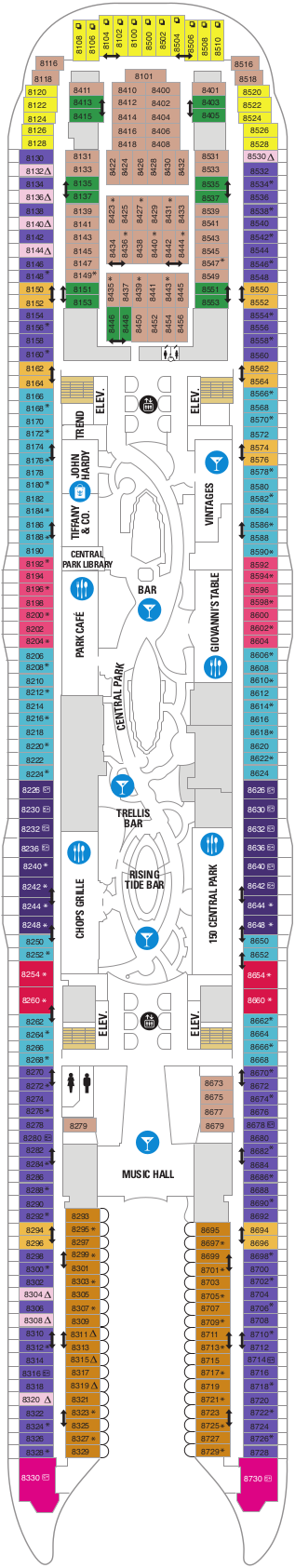 Oasis Of The Seas Deck 8 Deck Plan