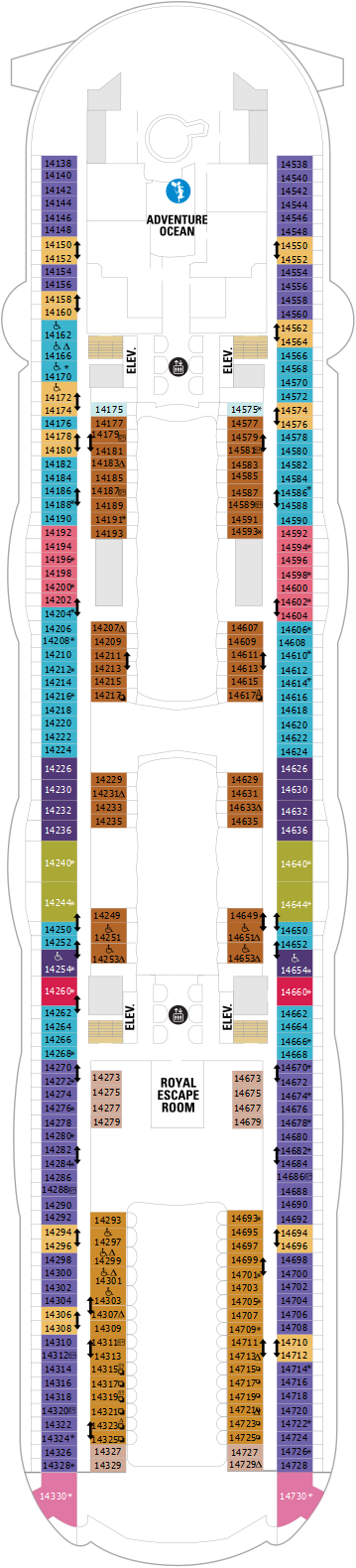 Allure Of The Seas Null Deck Plan