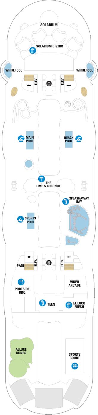 Allure Of The Seas Deck Fifteen Deck Plan