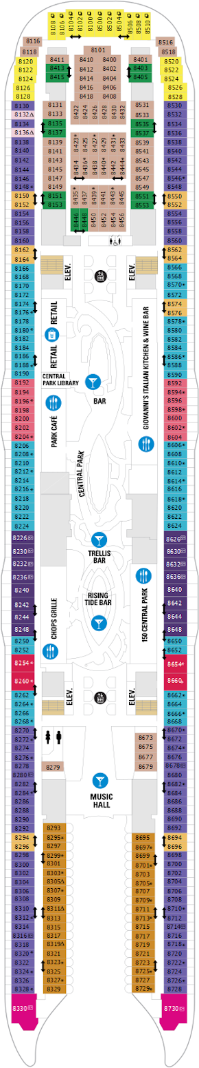 Allure Of The Seas Deck Eight Deck Plan