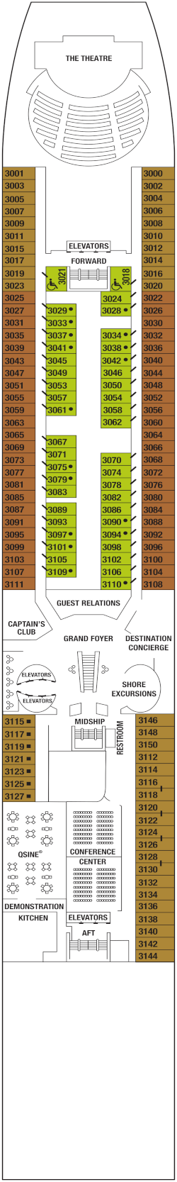 Celebrity Constellation Deck 3 Deck Plan