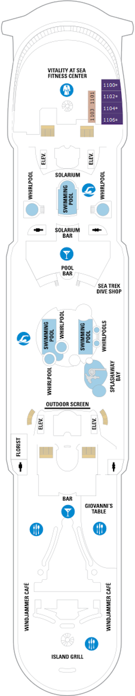 Adventure Of The Seas Deck Eleven Deck Plan