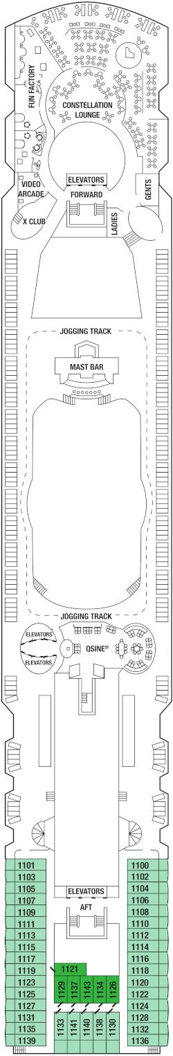 Celebrity Infinity Deck 11 Deck Plan