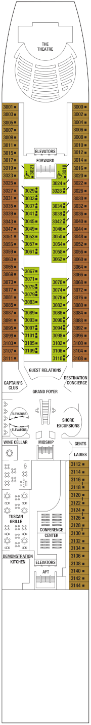 Celebrity Infinity Deck 3 Deck Plan
