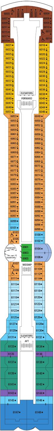 Celebrity Infinity Deck 6 Deck Plan