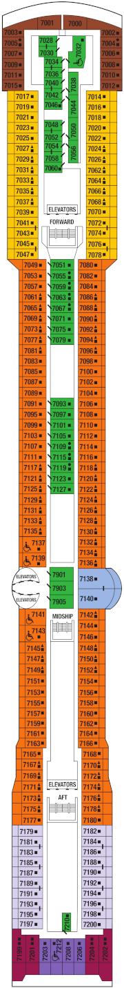 Celebrity Infinity Deck 7 Deck Plan