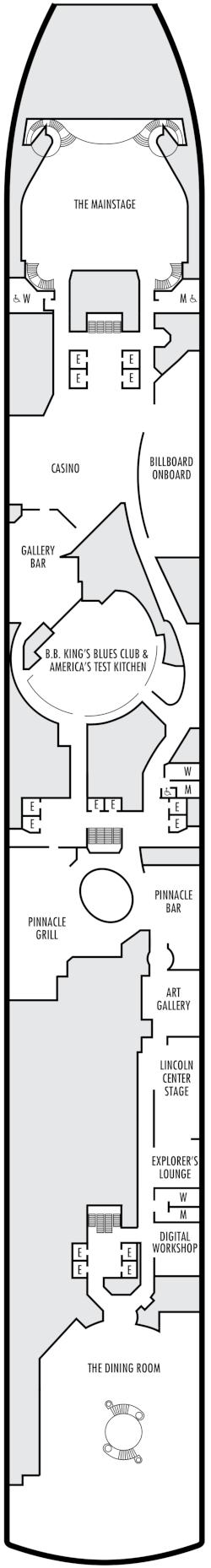 Eurodam Lower Promenade Deck Deck Plan
