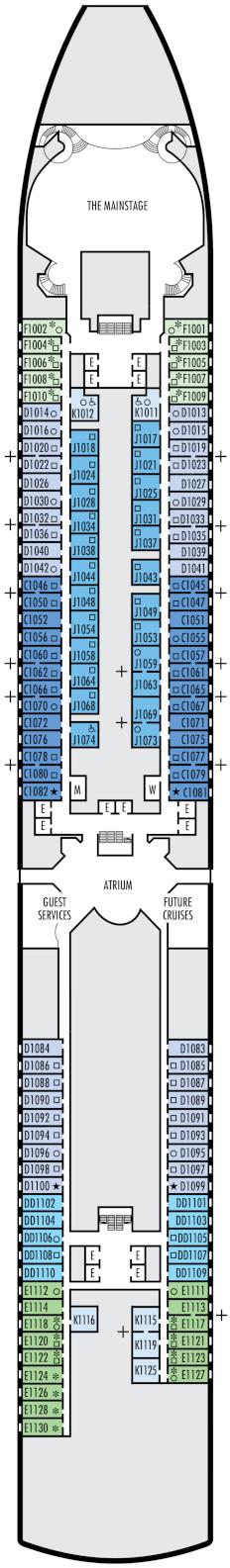 Eurodam Main Deck Deck Plan