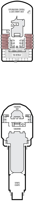 Eurodam Observation Deck Deck Plan