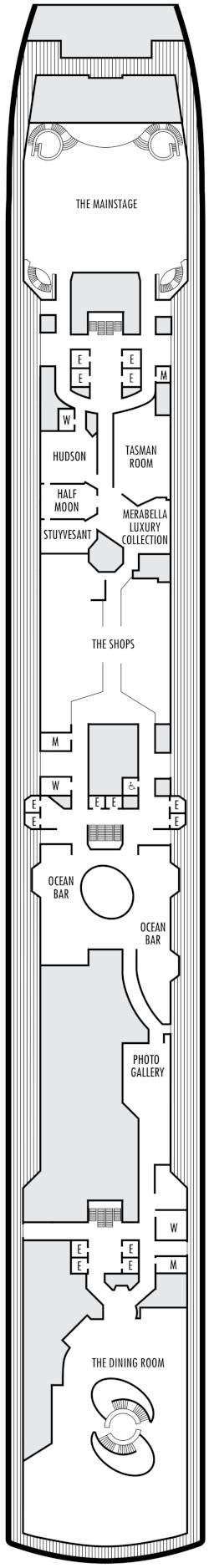 Eurodam Panorama Deck Deck Plan