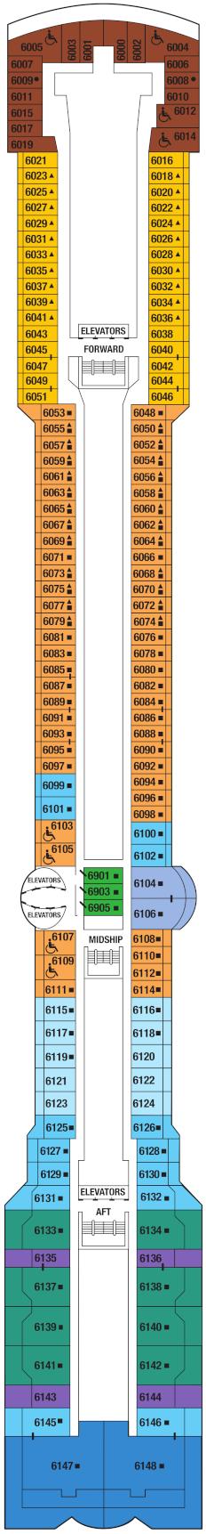 Celebrity Millennium Deck 6 Deck Plan