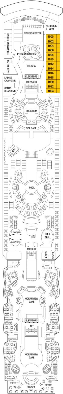 Celebrity Summit Deck 10 Deck Plan