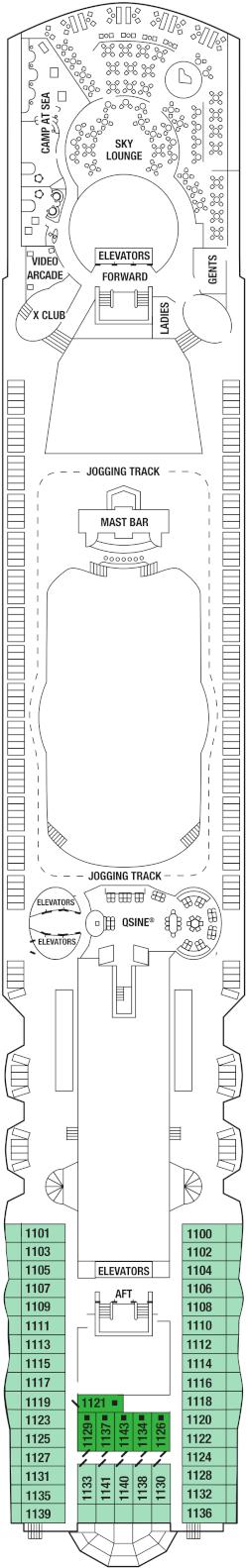 Celebrity Summit Deck 11 Deck Plan