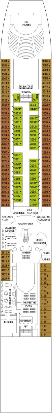 Celebrity Summit Deck 3 Deck Plan